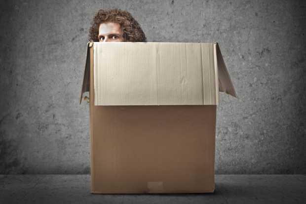 alone in a box